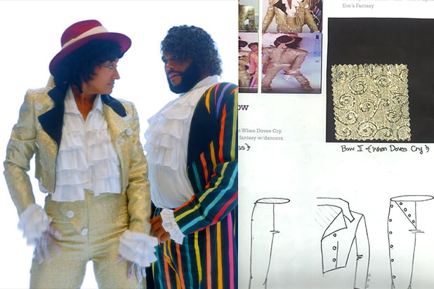 Black-ish costume sketch When Doves Cry