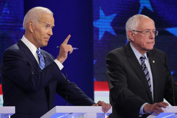 Democratic Debate Joe Biden Bernie Sanders
