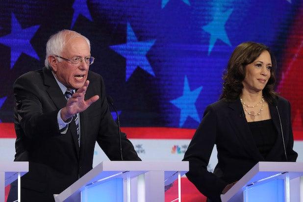 Democratic Debate Kamala Harris Bernie Sanders