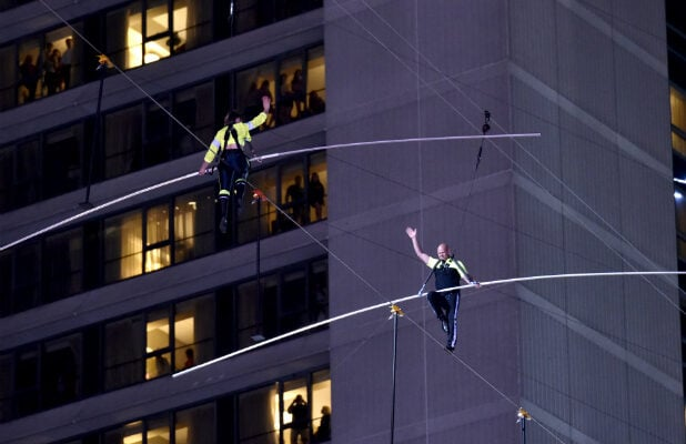 Highwire Live in Times Square With Nik Wallenda