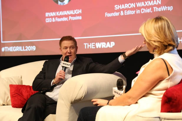 Ryan Kavanaugh and Sharon Waxman at TheGrill 2019