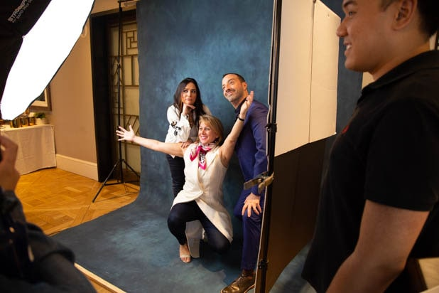 Sharon, Tony Hale and Pamela Adlon