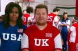 James Corden and Michelle Obama play dodgeball