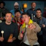 "Jonas Brothers play ""Sucker"" with classroom instruments"