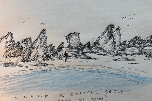 A Series of Unfortunate Events seawall sketch