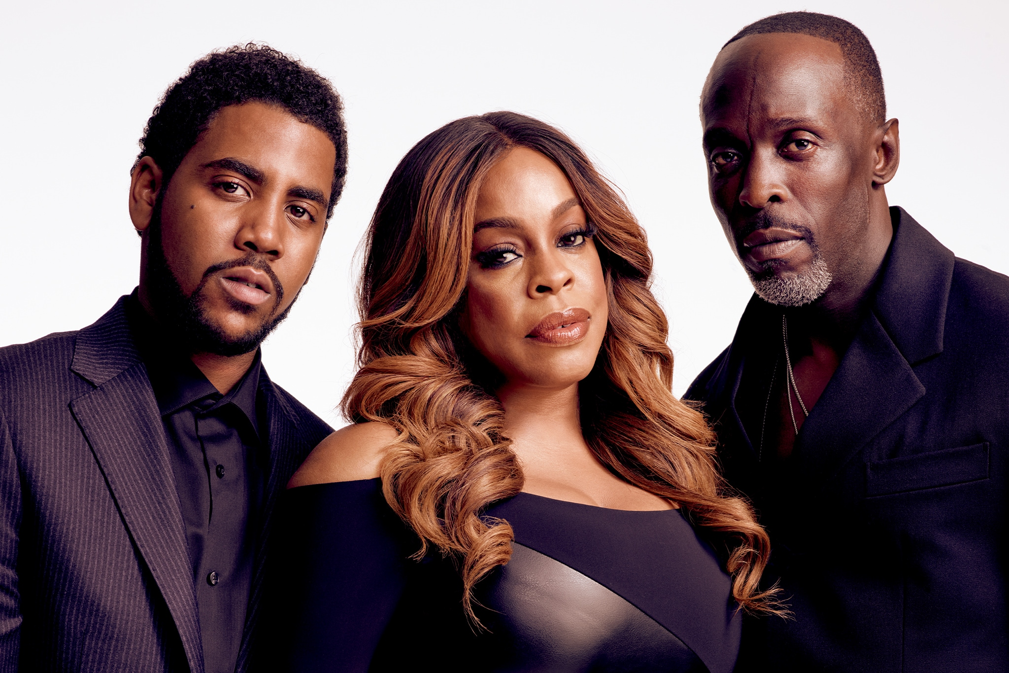 FOR MAGAZINE USE Jharrel Jerome, Niecy Nash, Michael K. Williams, When They See Us
