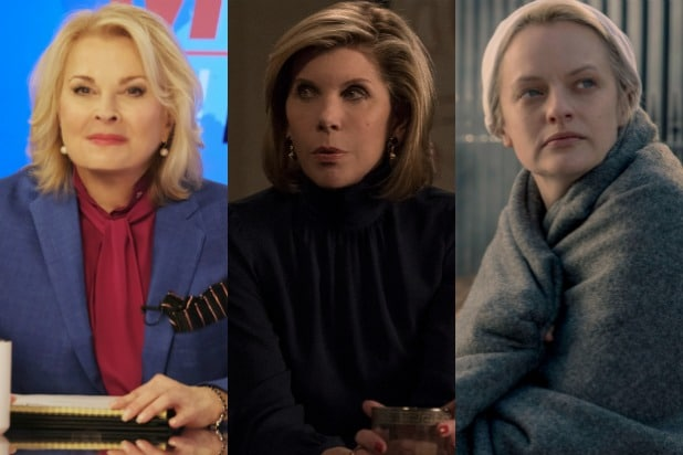political tv shows murphy brown good fight handmaids tale