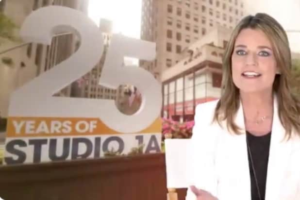 Today show 25th anniversary at Studio 1A