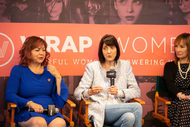 Linda T. Sanchez, Ruth Vitale, Gale Anne Hurd PWB DC 2019
