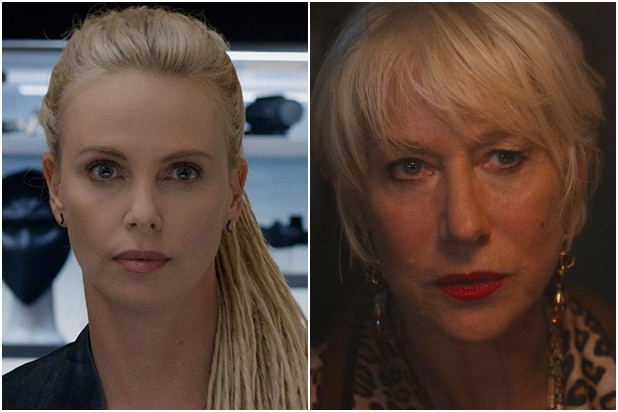 Charlize Theron Helen Mirren The Fate of the Furious