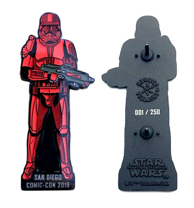 Comic-Con Sith Trooper Pin Star Wars Rise of Skywalker