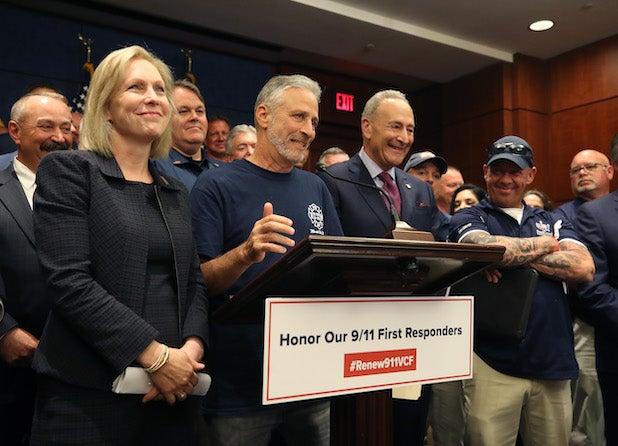 Jon Stewart Speaks Following Senate Vote on 9/11 Victims Fund