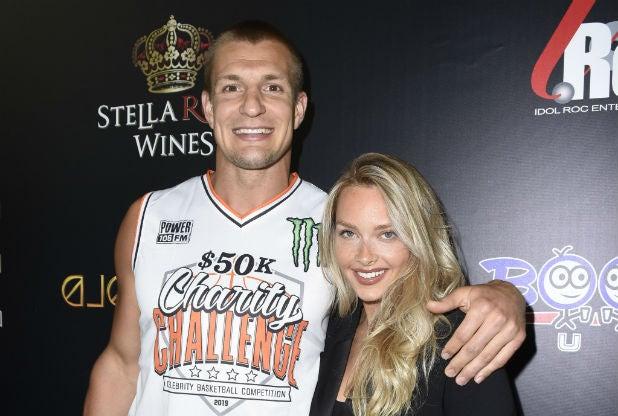 Rob Gronkowski Camille Kostek Monster Energy $50K Charity Challenge Celebrity Basketball Game