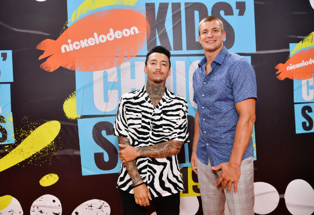 Nyjah Huston and Rob Gronkowski Nickelodeon Kids Choice Sports