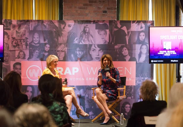 Sharon Waxman and Norah O'Donnell at PWB NYC 2019