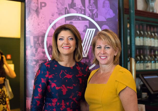 Norah O'Donnell and Sharon Waxman at PWB NYC 2019