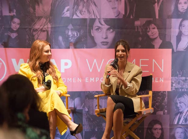 Samantha Barry and Emily Ratajkowski at PWB NYC 2019