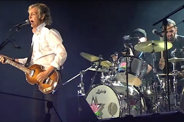 Paul McCartney, Ringo Starr Reunite Onstage to Play Beatles