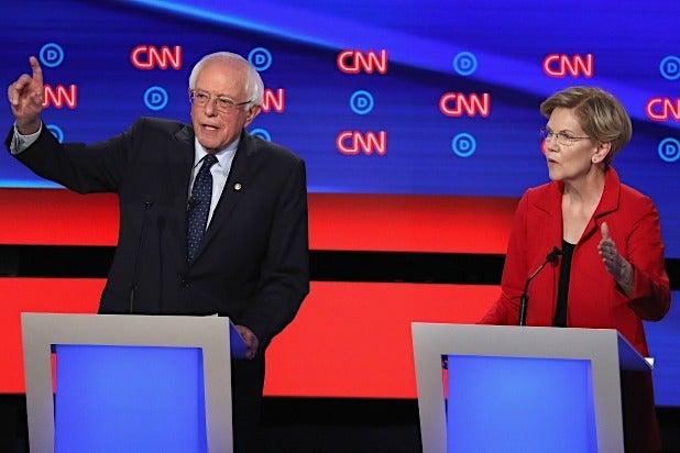 Presidential Debate Bernie Sanders Elizabeth Warren