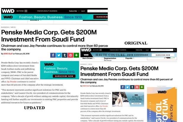 Penske Media $200 million