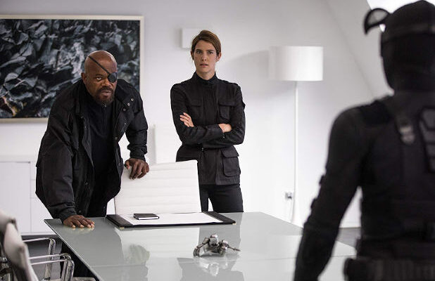 """Acrylic Display Case Light Box for 3 12/"""" 1//6th Scale Figure Nick Fury Maria Hill"""