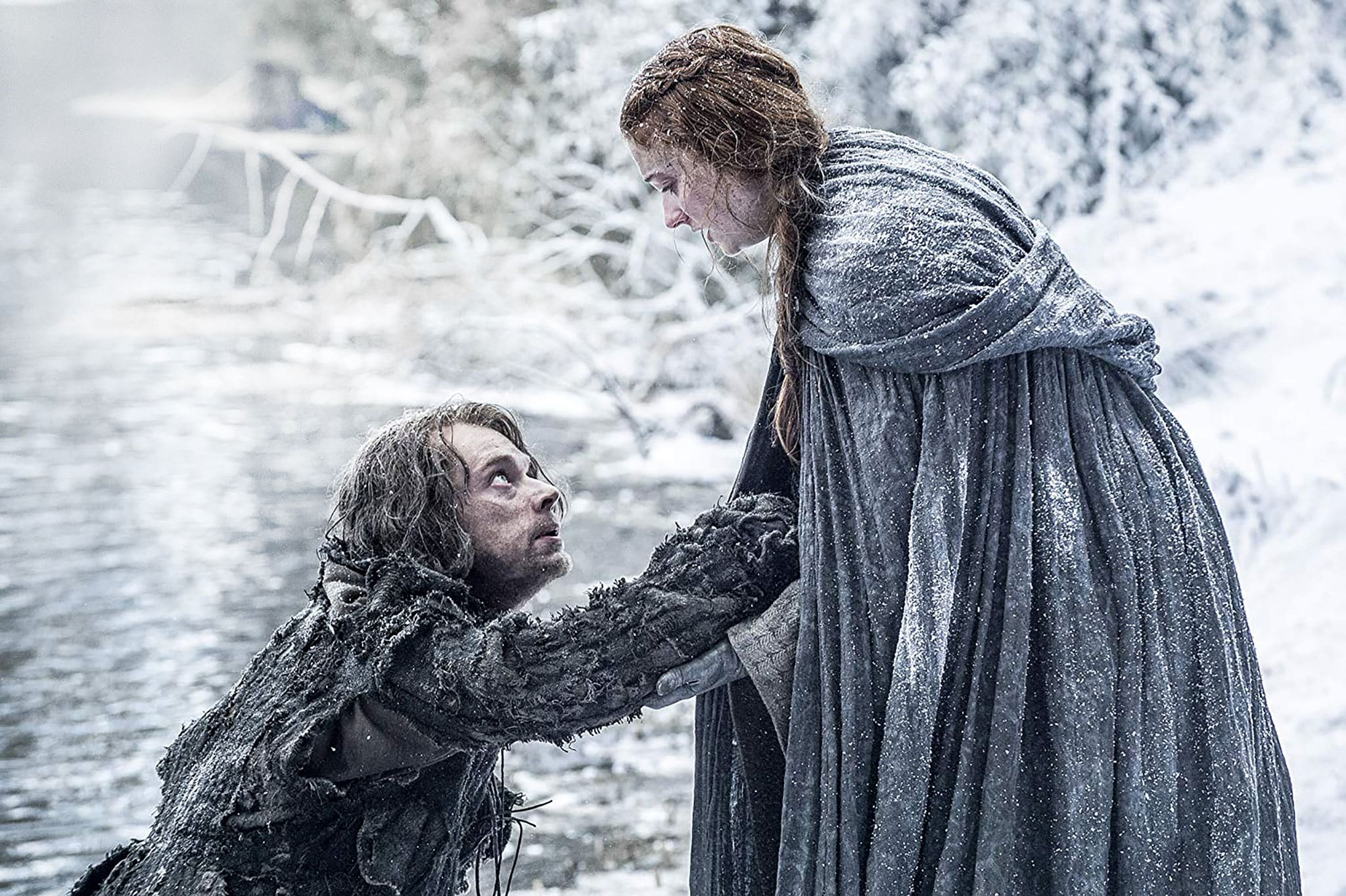Alfie Allen and Sophie Turner on 'Game of Thrones'