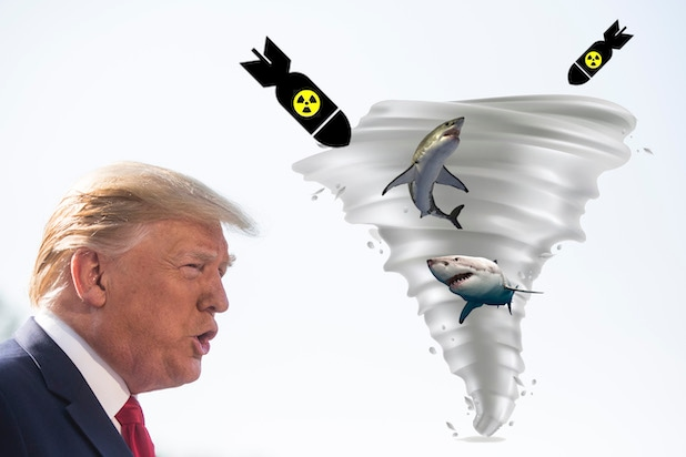 Trump Floats Idea of Using Bombs to Weaken Hurricanes… Like in 'Sharknado'… for Reals