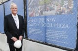 David Koch at the groundbreaking for the Metropolitan Museum of Art's David H. Koch Plaza