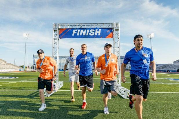 (l-r) Chris, Gordie Jr., Rob, Glenn and Dan Gronkowski/ Stadium Blitz