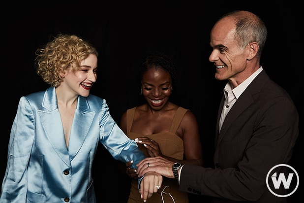 Julia Garner, Marsha Stephanie Blake, and Michael Kelly, Emmy Screening