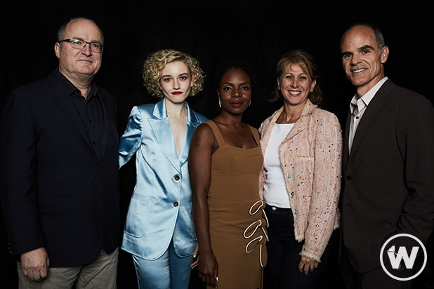 Steve Pond, Julia Garner, Marsha Stephanie Blake, Sharon Waxman, and Michael Kelly, Emmy Screening