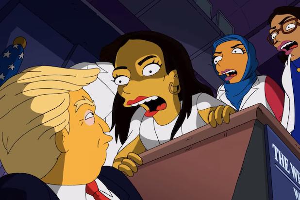 The Simpsons Trump AOC The Squad