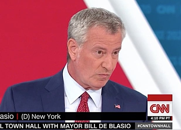 CNN Town Hall With Democratic Candidates De Blasio and