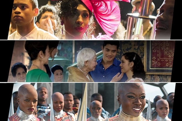 "Stills from ""Pose,"" ""Crazy Rich Asians,"" and ""Black Panther"""