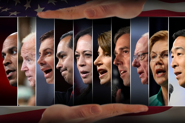 10 of the Democratic presidential candidates