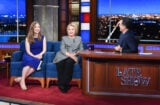 Hillary Clinton and Chelsea Clinton on The Late Show With Stephen Colbert