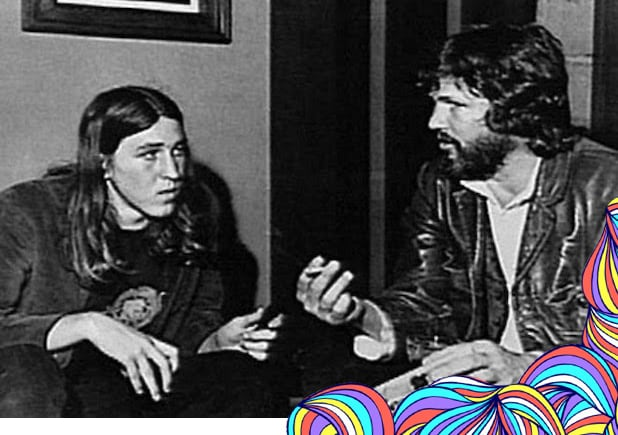 Cameron Crowe with Kris Kristofferson in the 1970s