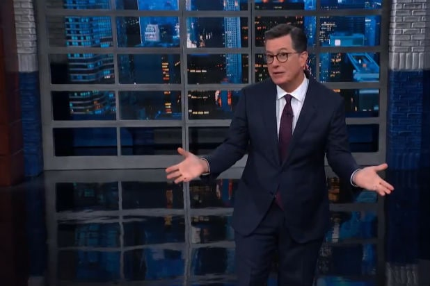 Colbert Trump Impeachment Inquiry Standing Ovation