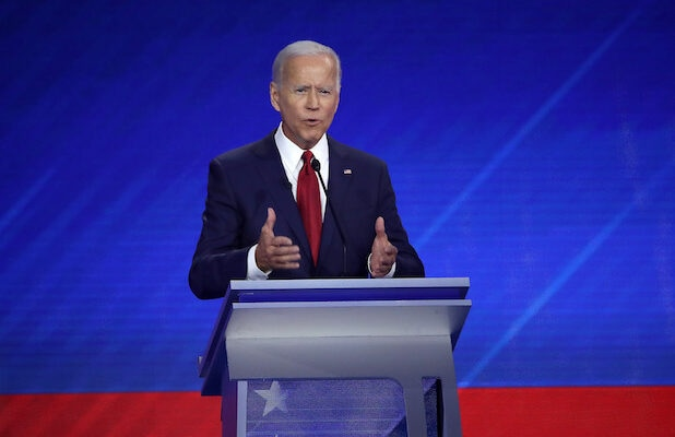 Protesters Interrupt Joe Biden During Third Democratic Debate