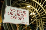 A backstage sign during rehersals for the 90th Oscars