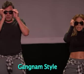 Jimmy Fallon and Jennifer Lopez perform The History of Music Video Dancing