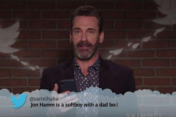 Jimmy Kimmel's 'Celebrity Mean Tweets': Jon Hamm Is a 'Softboy,' Will Ferrell 'Just Screams' (Video)