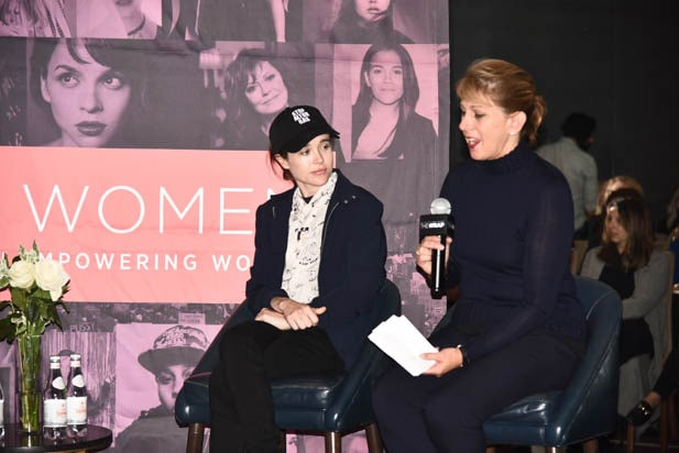 Ellen Page and Sharon Waxman at Power Women Toronto