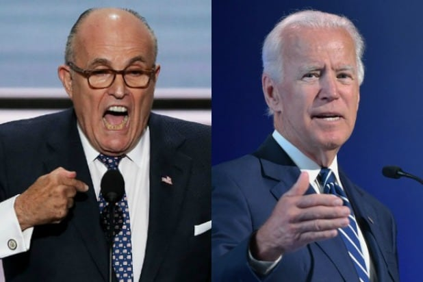 Rudy Guilliani Joe Biden