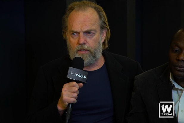 Hugo Weaving Studied PTSD to Play War Photographer in 'Hearts and Bones' (Video)