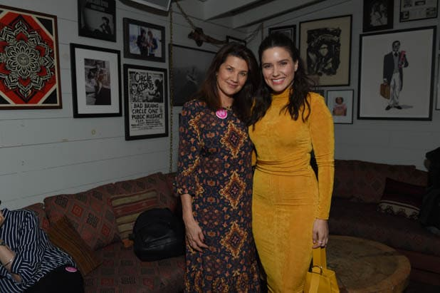 Daphne Zuniga and Sophia Bush at the Power Women Summit 2019