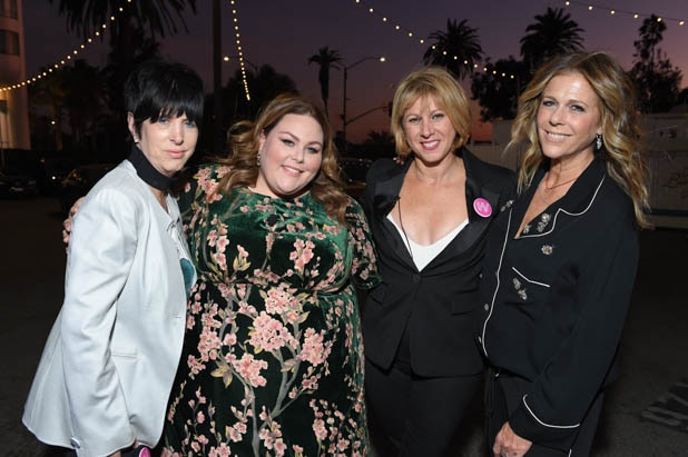 Diane Warren, Chrissy Metz, Sharon Waxman and Rita Wilson at the Power Women Summit 2019