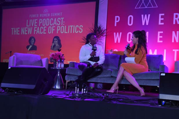 Cori Bush and Sophia Bush at the Power Women Summit 2019