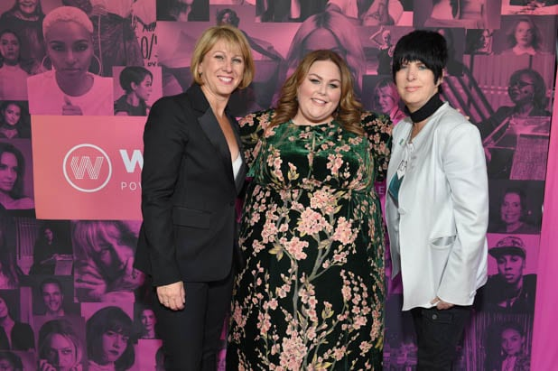 Sharon Waxman, Chrissy Metz and Diane Warren at the Power Women Summit 2019