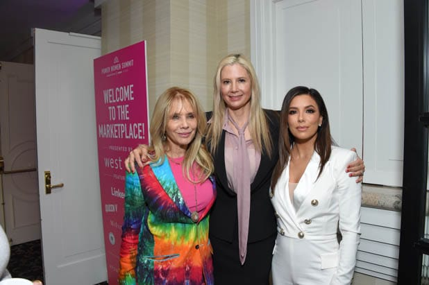 Rosanna Arquette, Mira Sorvino and Eva Longoria at the Power Women Summit 2019
